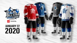 Jerseys for the 2020 ECHL All-Star Classic