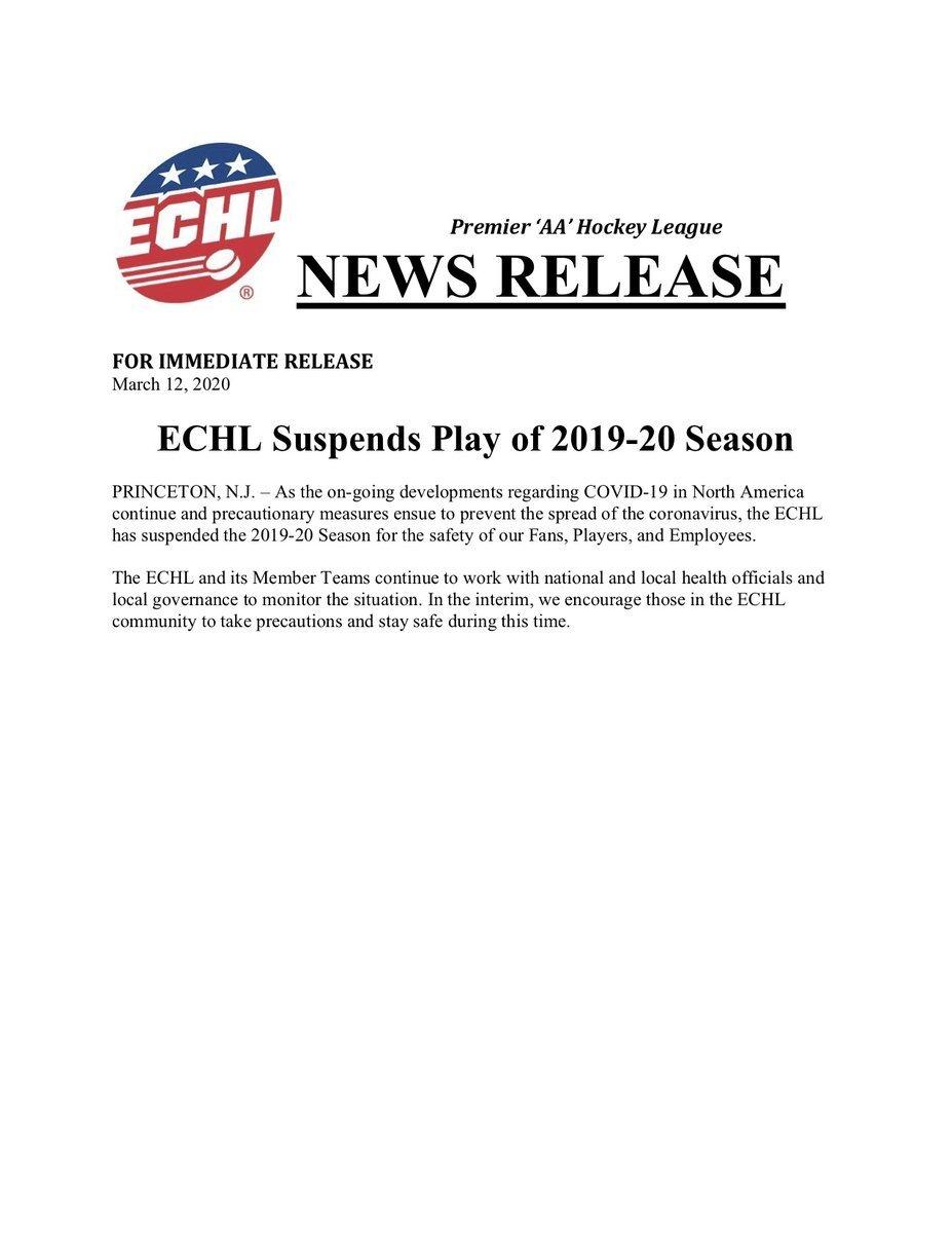 ECHL-Suspends