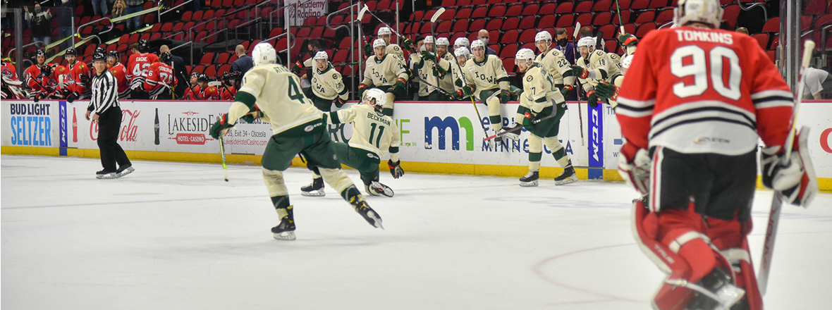 Beckman Delivers Skate-Off Goal in Overtime, Wild Win 3-2
